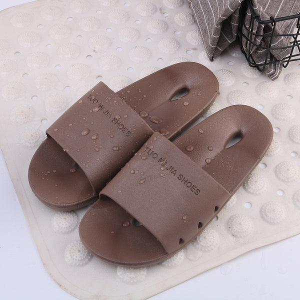 Hollow out Bathroom Plastic Slippers