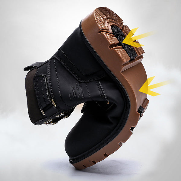 Plus Size Adjustable Buckle Snow Boots