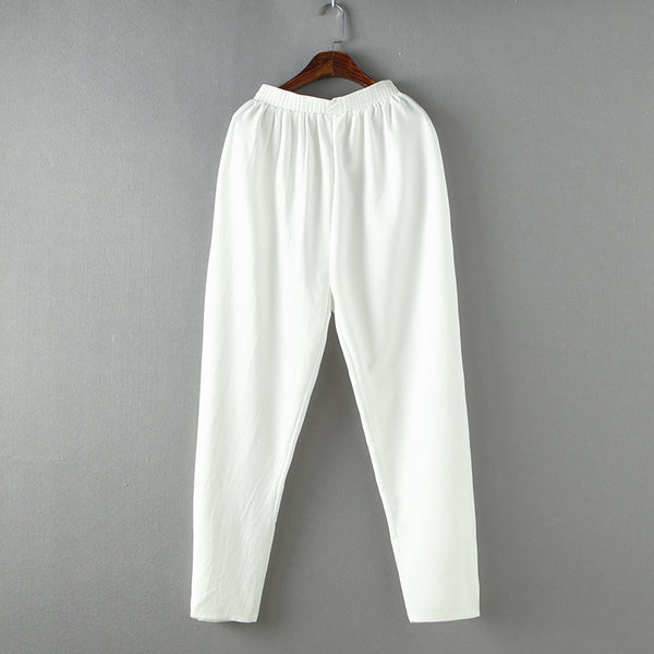 Chinese Style Tang Pant Men's Cotton Casual Kung Fu Tai Chi Trousers