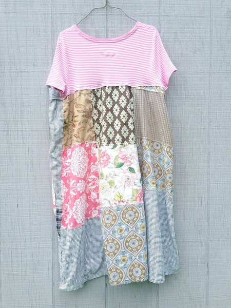 Pink Printed Casual Dresses