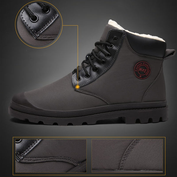 Men's High-top Outdoor Waterproof And Cold Snow Boots