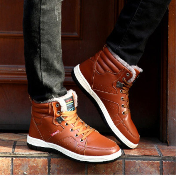 Plus velvet warm high men's casual shoes