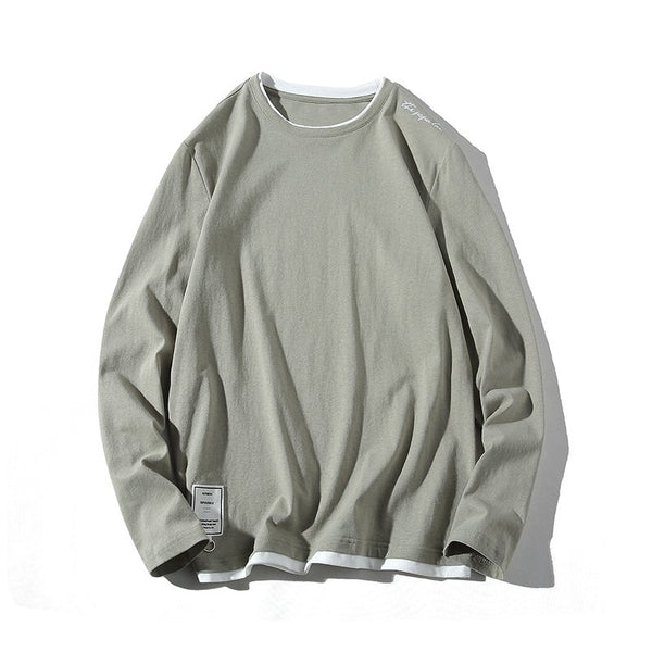 Men's Casual Long Sleeve Round Neck T-Shirts