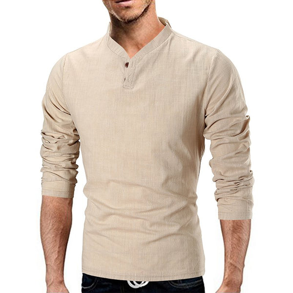 Casual Buttoned Linen Shirts & Tops