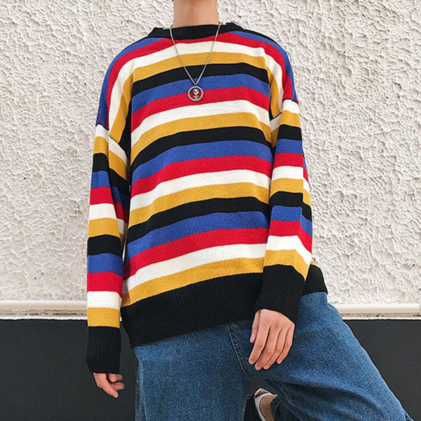 Crew Neck Striped Shirts & Tops