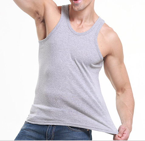 Men's Casual Round Neck  Basic Slim Stretch Vest