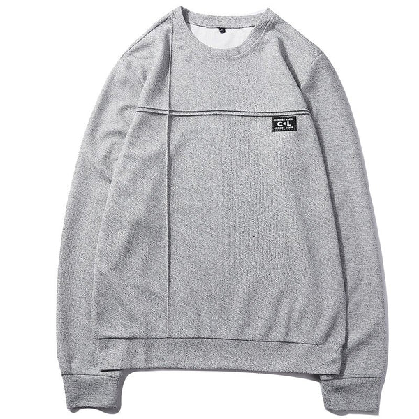 Men's Casual Round Neck Long Sleeve T-Shirts