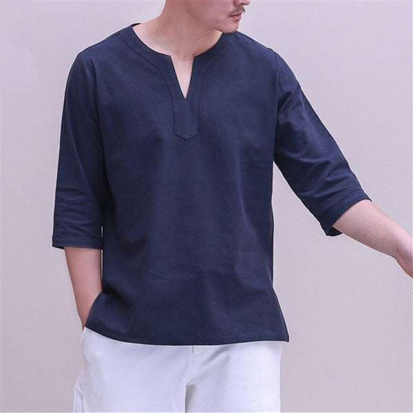 Men's Vintage Plus Size Cotton Tops & Shirts