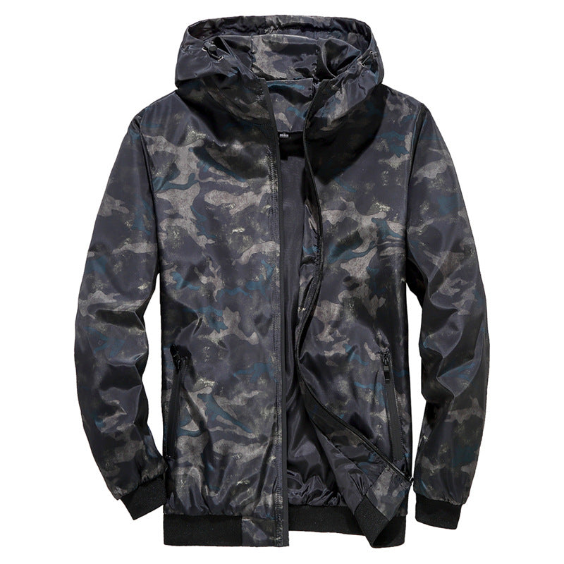 Men's Fashion Casual Hooded Camouflage Jacket