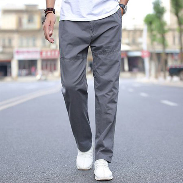 Cotton Paneled Plain Pants