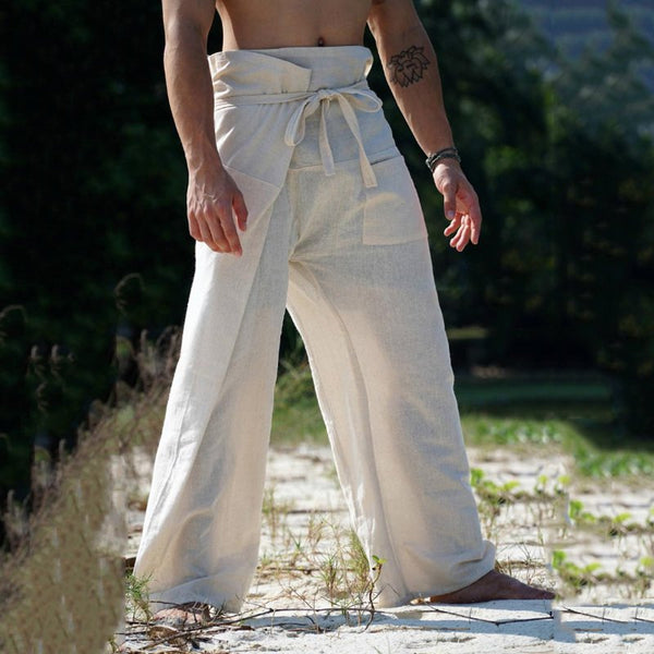 Men's Comfort Loose High-Waist Wide Leg Pants