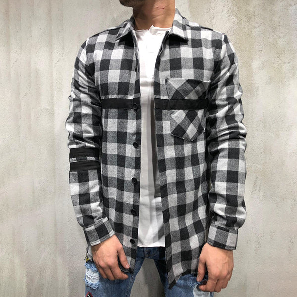 Shirt Collar Plaid Cotton Shirts & Tops