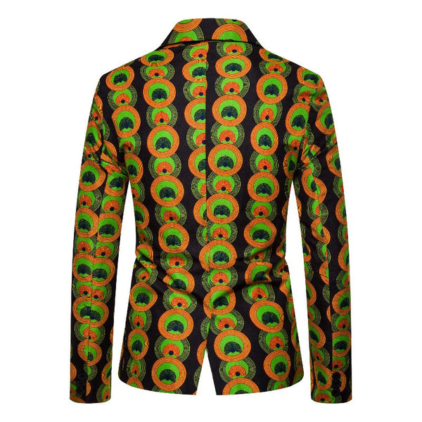 As Picture Cotton-Blend Lapel Printed Cocktail Outerwear