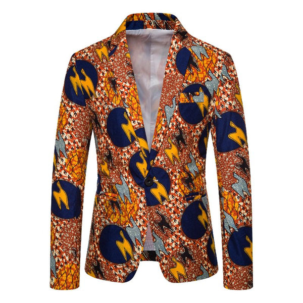 As Picture Abstract Lapel Cocktail Printed Outerwear