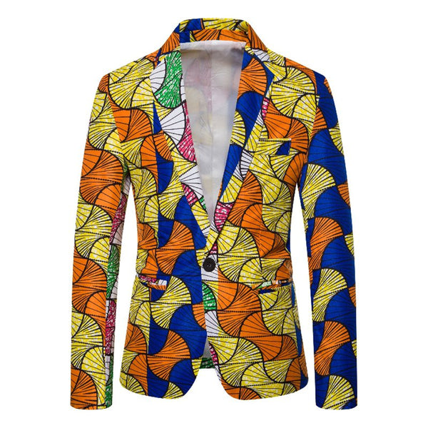 As Picture Abstract Lapel Printed Statement Outerwear