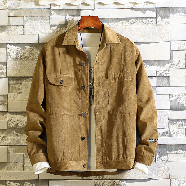 Men's Casual Lapel Loose Corduroy Jackets