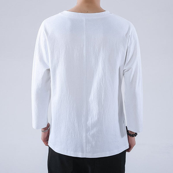 Solid Cotton-Blend Shirts & Tops