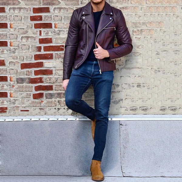 Fashion Casual Men's PU Leather Jackets