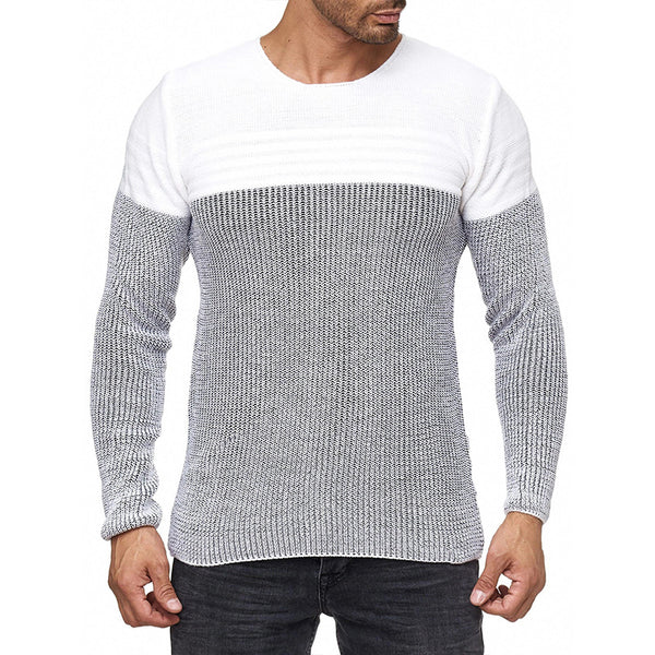 Men's Round Neck Knitted Pullovers Sweaters