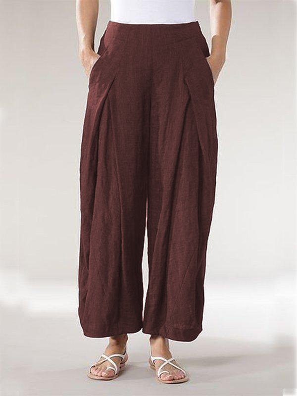Casual Plus Size Long Pants With Pockets