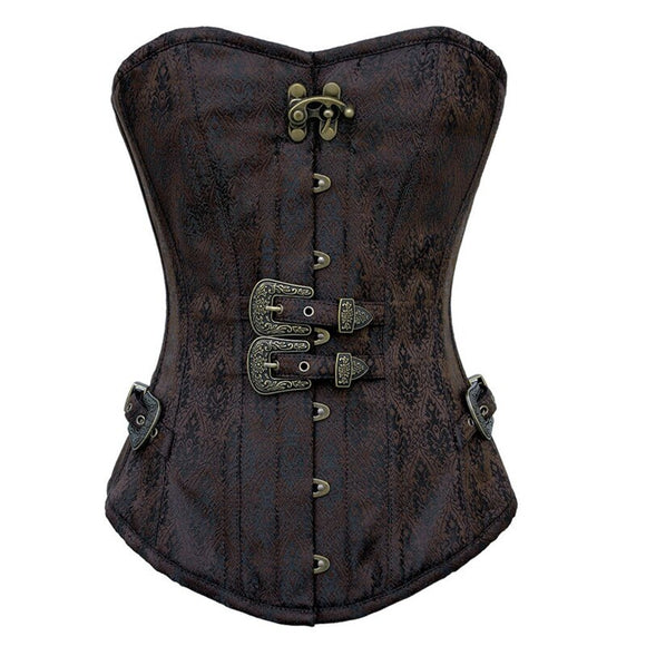 Sexy Gothic Lingerie Bustiers Classic Strong Goth Steampunk Bondage Top Punk Corsets Embroidered Short Waist Trainer Corset