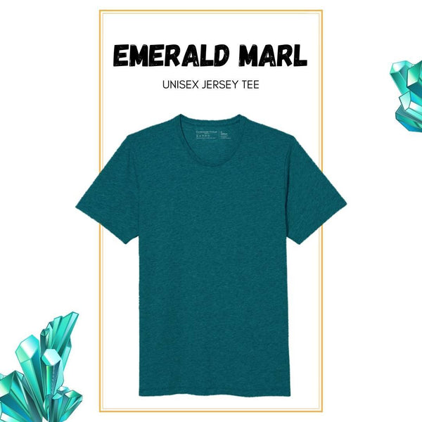 Soft Crew Tee - Emerald Heather - Clubhouse Vivaldi