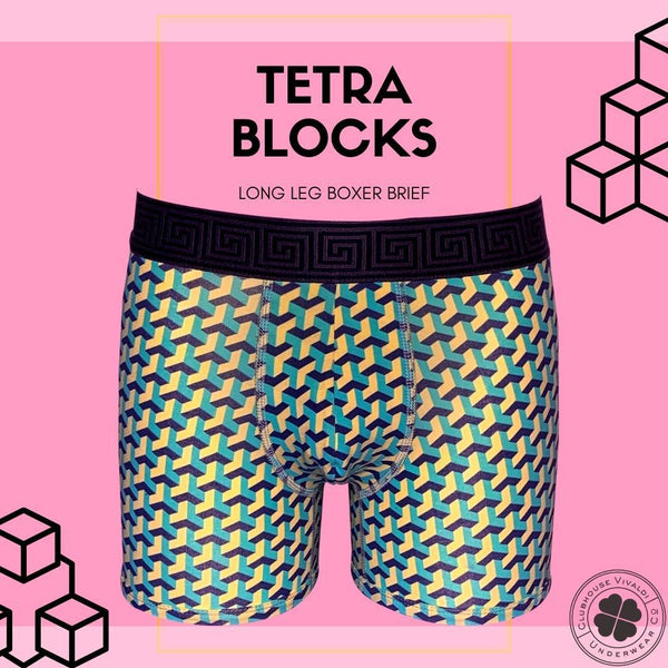 Tetra Blocks - Boxer Brief - Clubhouse Vivaldi