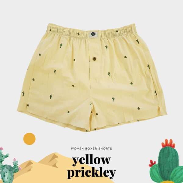 Woven Boxer - Yellow Prickly Pear - Clubhouse Vivaldi