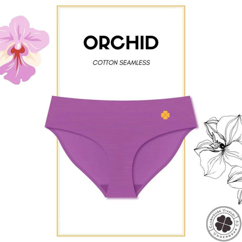 Cotton Seamless Full-Brief - Orchid