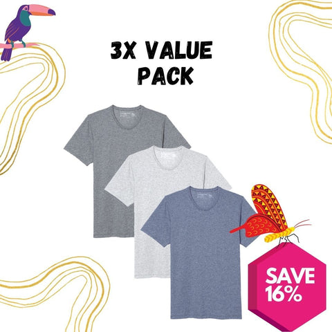 3X Tee Value Pack - Mix and Match - Clubhouse Vivaldi