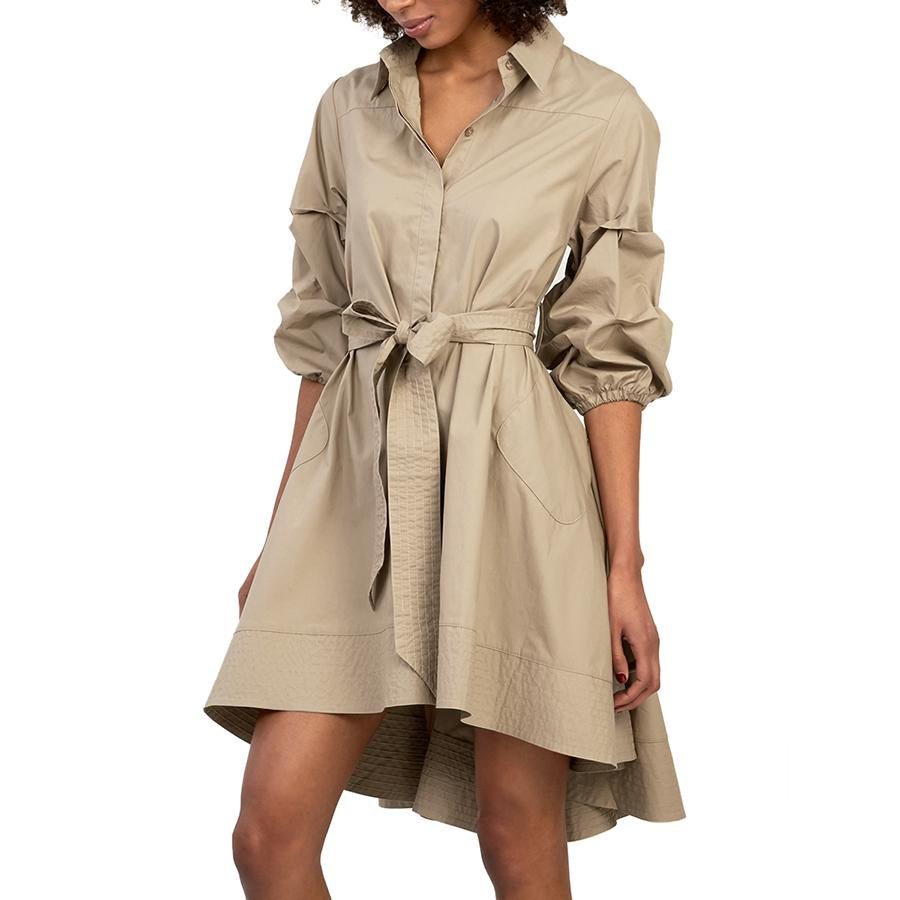 Gracia High Low Trench Dress