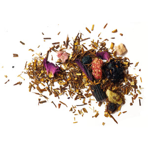 A juicy, rooibos blend that's as lively and sweet as a burst of berry bubblegum