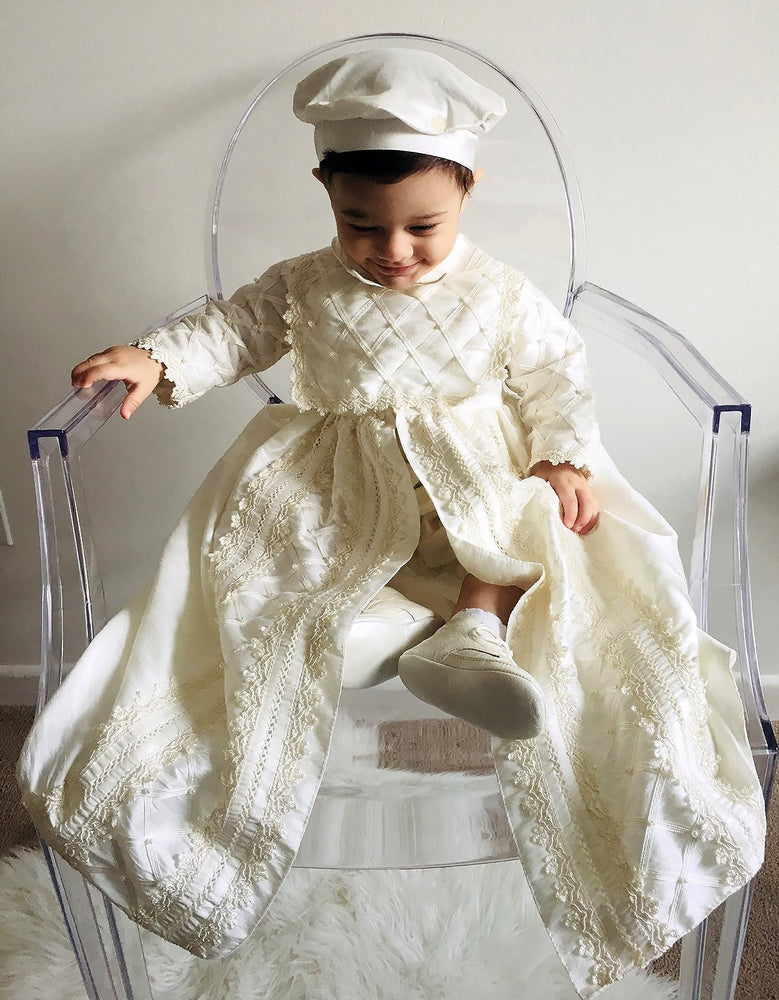 fc50446f536b6a Baby Boy Christening Gown Suit, Spanish Style outfit (ropones para  bautizo). Baptism