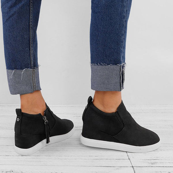Wedge Heel Hollow-Out Daily Sneakers