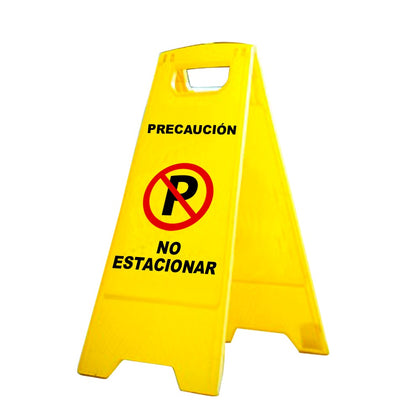 Señal de advertencia NO ESTACIONAR