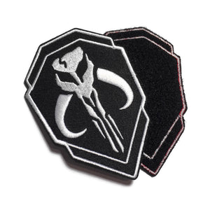 Mandalorian Skull Embroidered Patches