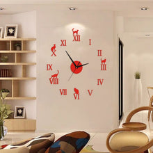Load image into Gallery viewer, Cat Wall Sticker Clock