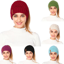 Load image into Gallery viewer, Ponytail Knitted Cap