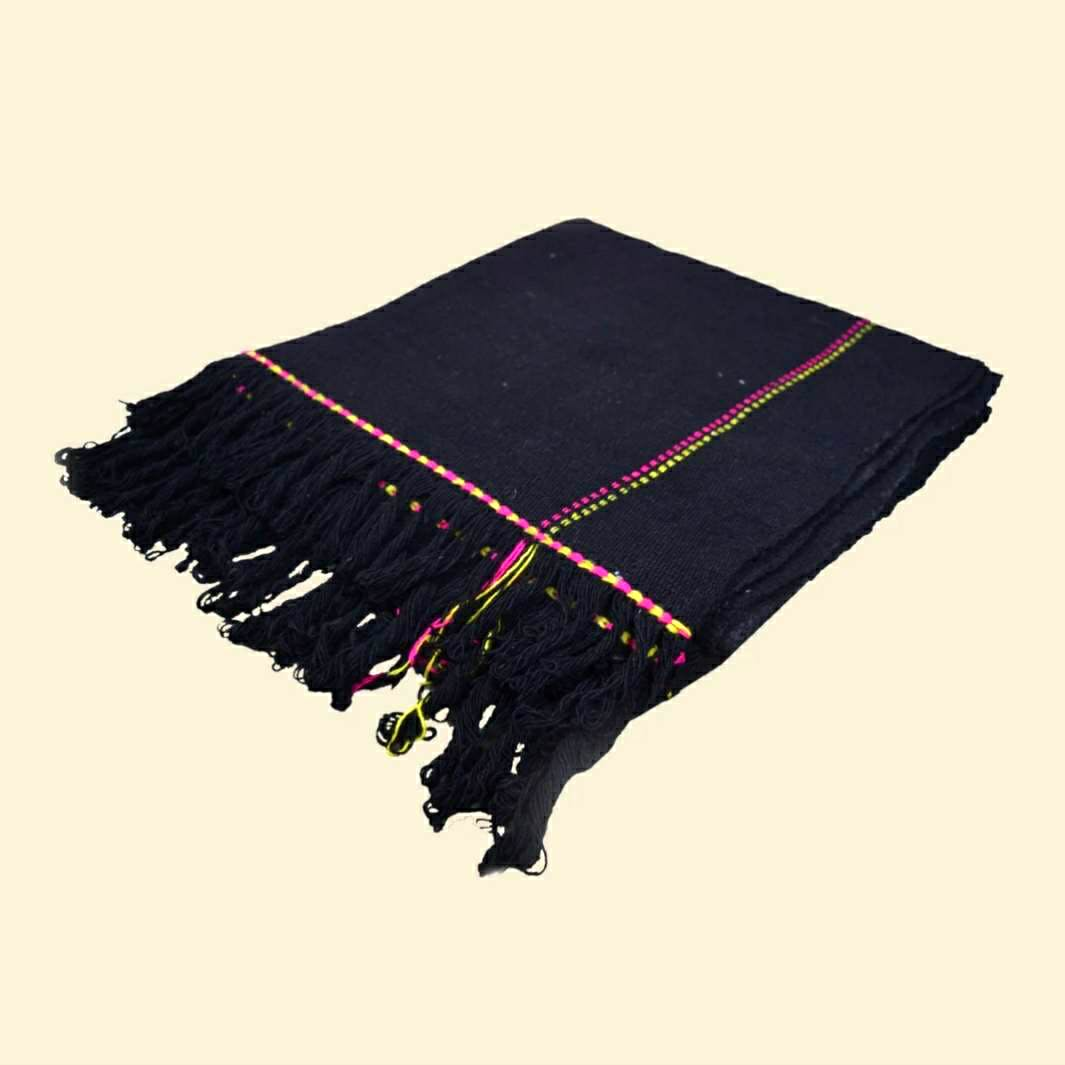 Traditional Pure Woolen Ghongadi - Black
