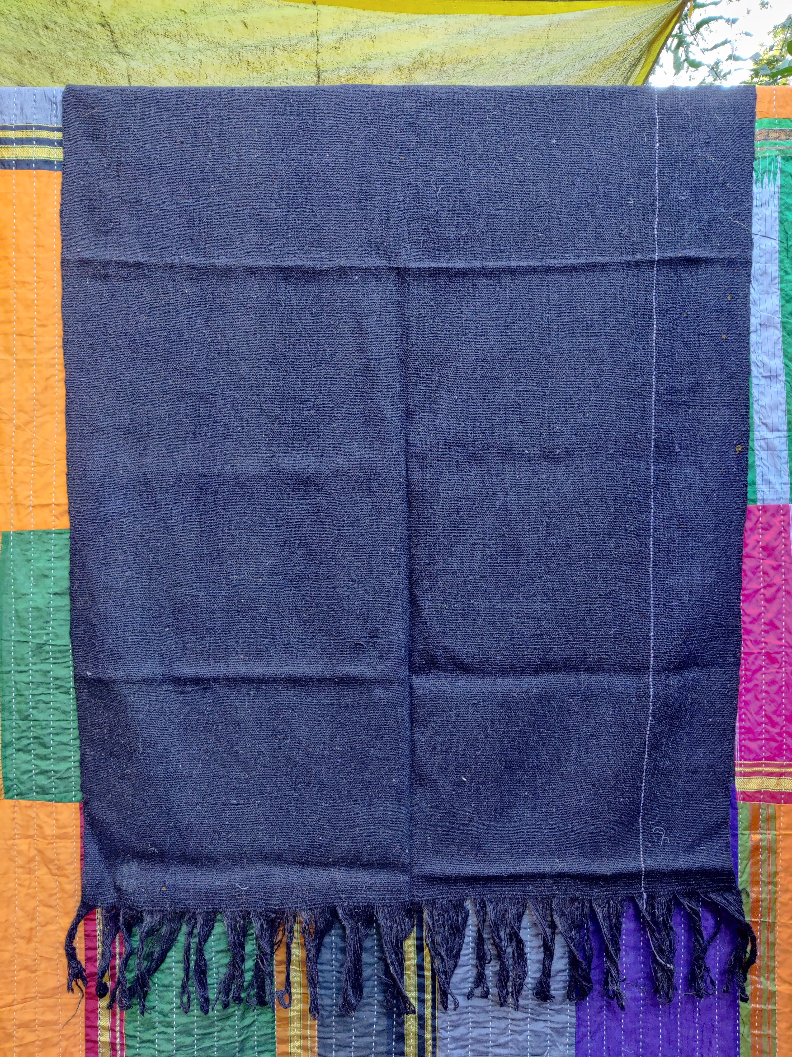 Jawal/Virgin Wool Black Ghongadi