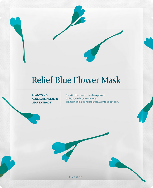 Relief Blue Flower Mask