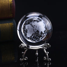 Load image into Gallery viewer, Laser Engraved Planet Earth Crystal Ball