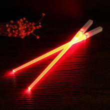 Load image into Gallery viewer, LED Lightsaber style Chopsticks (2 pairs)