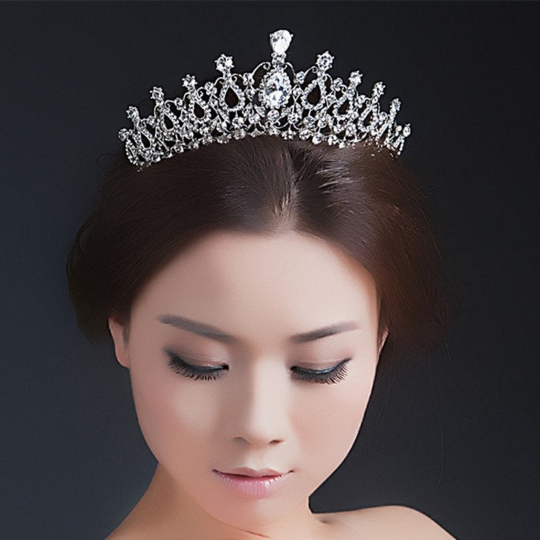 The proper way to wear a tiara.