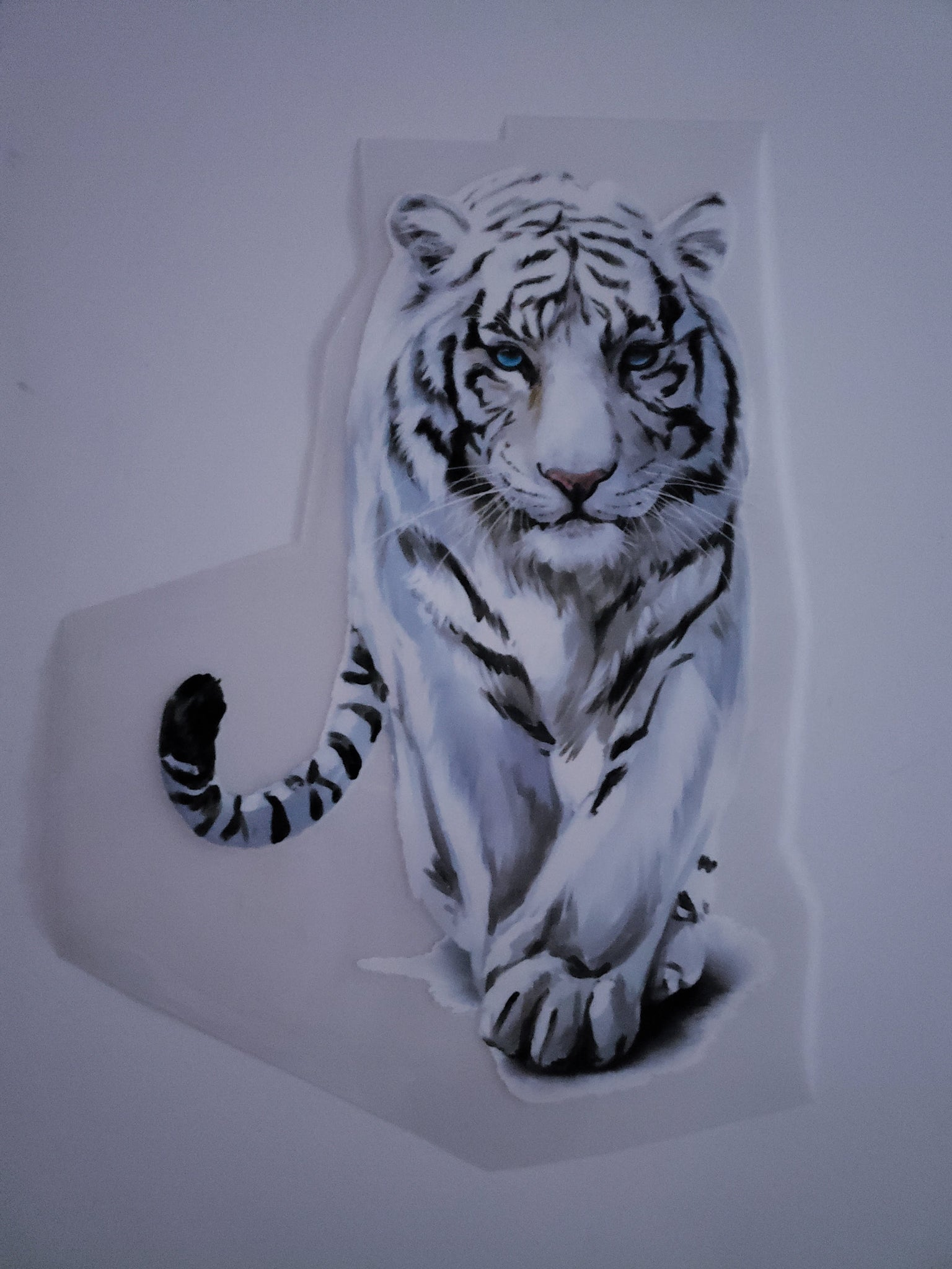 Large White Tiger Animal Patch Iron On Heat Transfer Patch