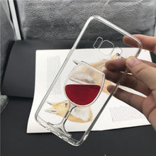 Luxury Red  Glass Flowing Liquid Quick Sand Case For Samsung S8, Samsung S8 Plus