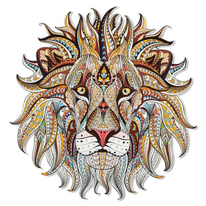 Large Mosaic Lion Patch Iron On Heat Transfer  Patch. Applique DIY Craft.Costume Embellishment. Dress Accessory .Washable patch.