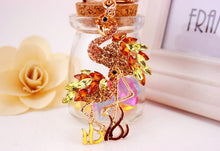 Flamingo Key Chain Rings Holder Car Bag Key rings Holder  Vintage Design  Crystal Rhinestone Brooch for Women Dress Scarf Brooch Pins Jewelry Accessories Gift. Large brooch. Jewelry Insect Brooch Hijab Pins Garment Jewelry.
