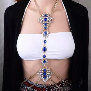 Women Hollow Bra Chain Brassiere Body Jewelry . Choker Statement Necklace. Body Chain Jewelry.