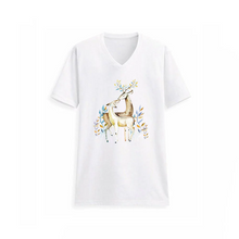 Large  Animal Deer Iron On Heat Transfer Embroidery Applique for DIY Craft  Embellishment Dress T-shirt Jacket Jeans Backpack Accessory.